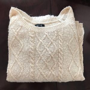 Tan Sweater with Gold Specks